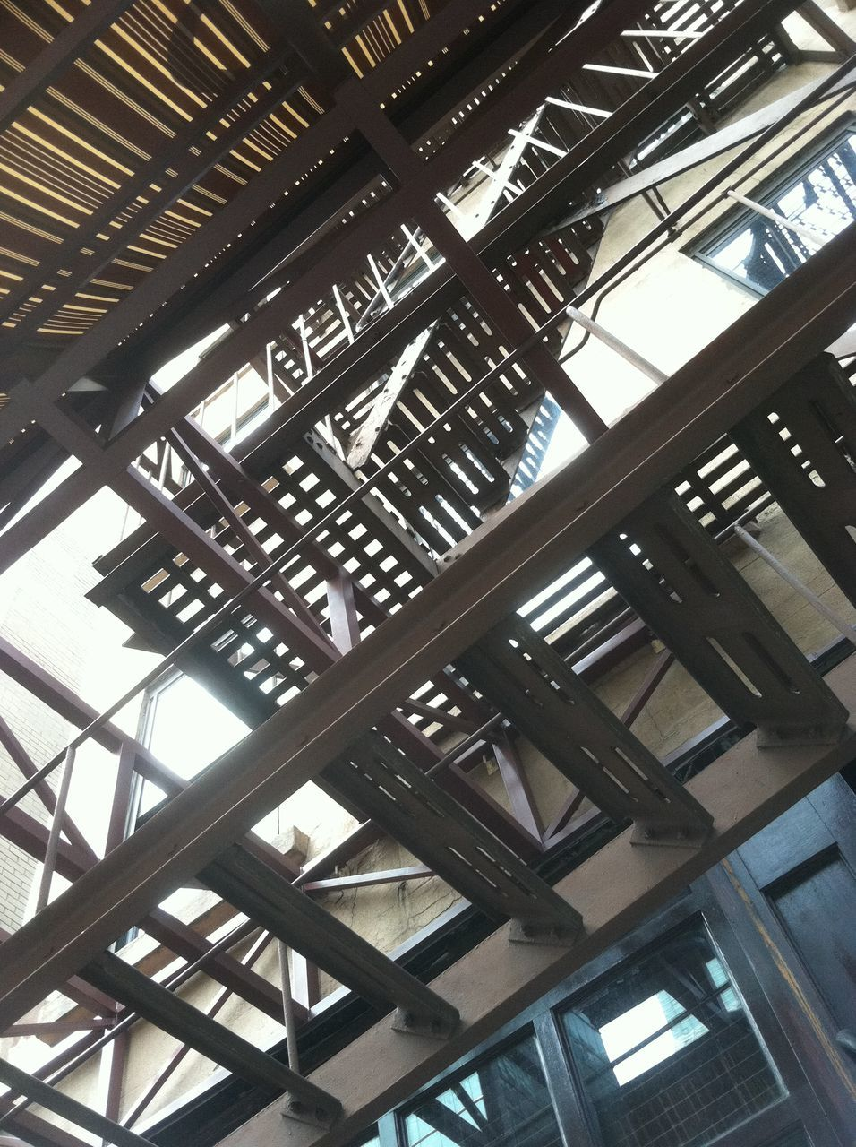 low angle view, indoors, ceiling, architecture, built structure, no people, day, close-up