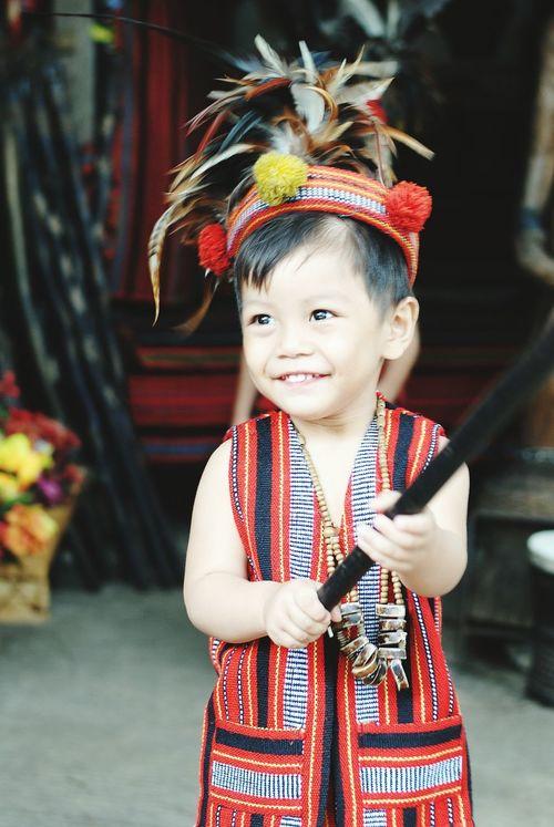 Igorot Costume Cosplay Kid Smile Baguio City Baguio Filipino