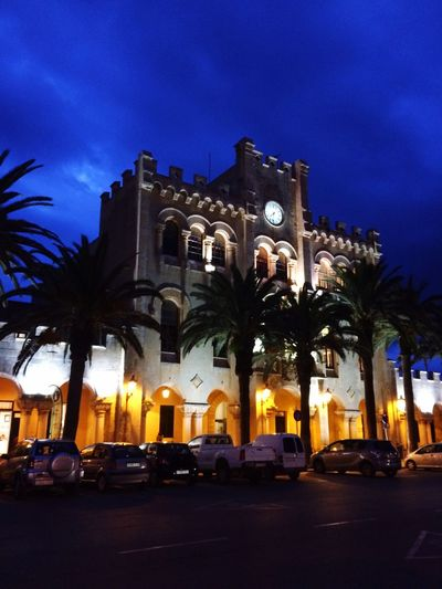 Ciutadella Hall Building Exterior Night Travel Destinations Architectural Style Menorca2016 Menorcaexisteix