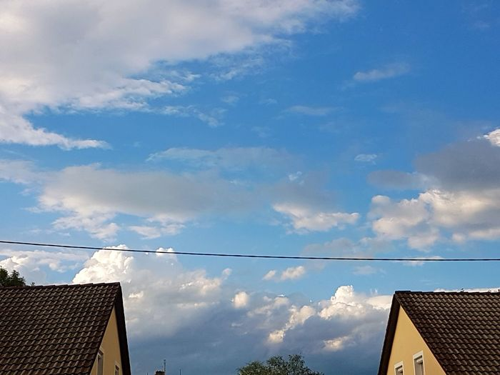 Sky Cloud - Sky No People Low Angle View Outdoors Day Cable Building Exterior Blue