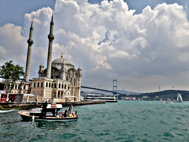 Travel Destinations Sea Sky Ortaköy Bosphorus Bosphorus, Istanbul