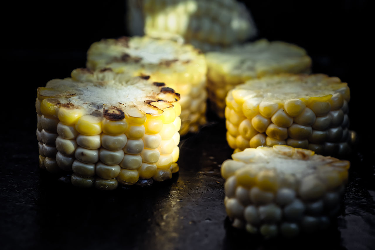 Barbecue Black Background Corn Food Food And Drink Food And Drink No People Plancha