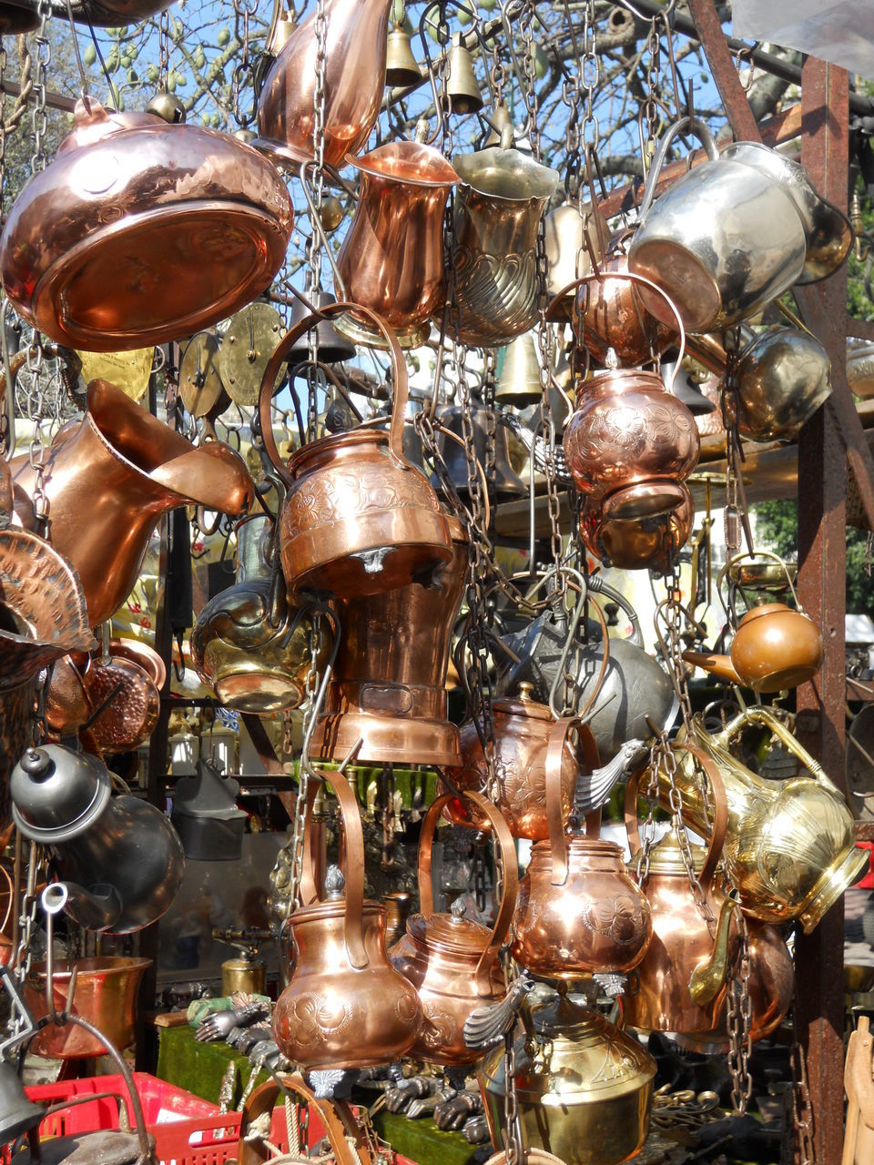 large group of objects, for sale, retail, variation, market, market stall, choice, abundance, hanging, no people, store, indoors, day, close-up