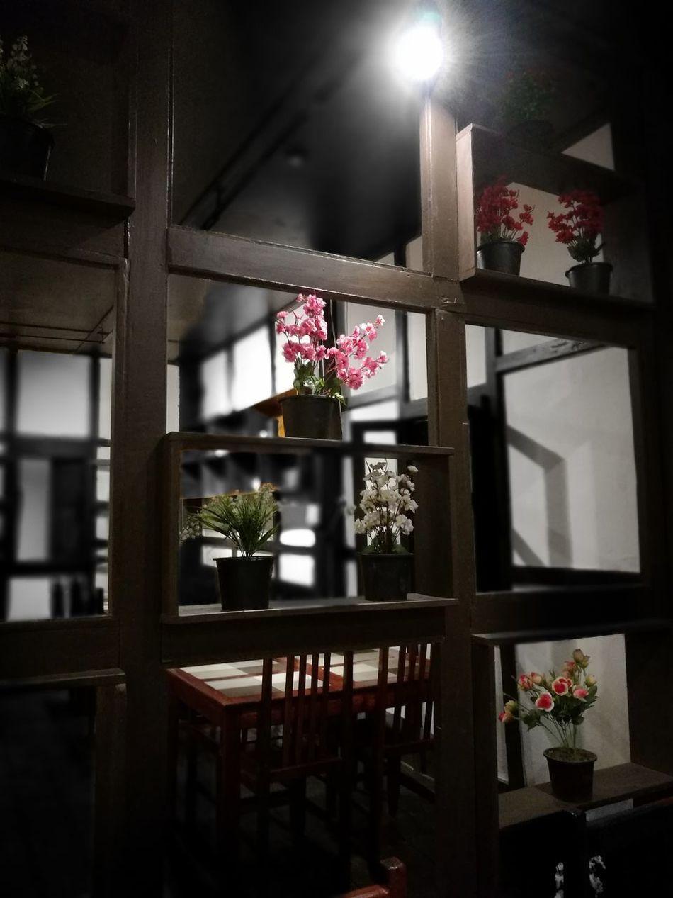 Flower Window No People Indoors  Coffee Shop Decoracion Jar