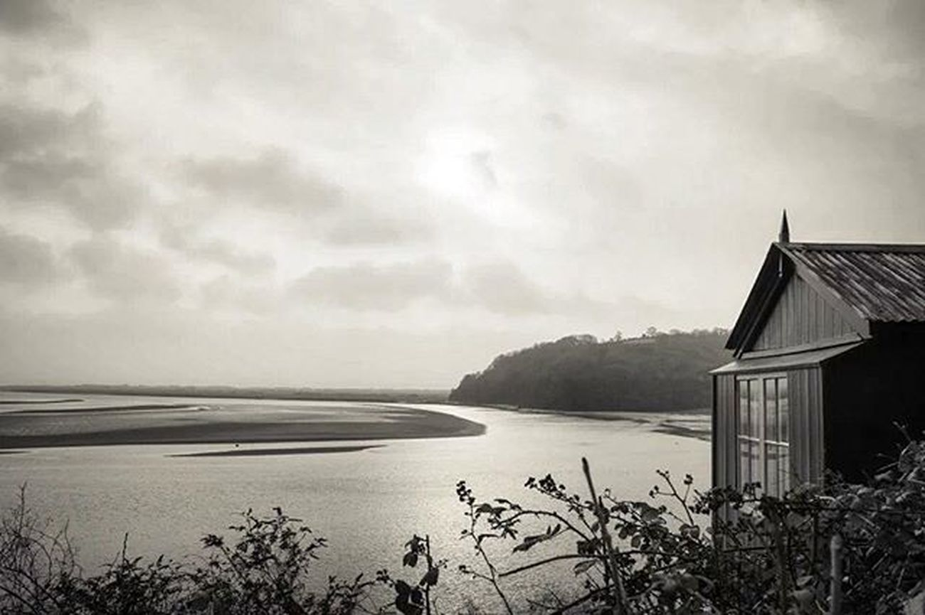 'The Writing Shed'. DylanThomas Laugharne Wales Poetry Monochrome