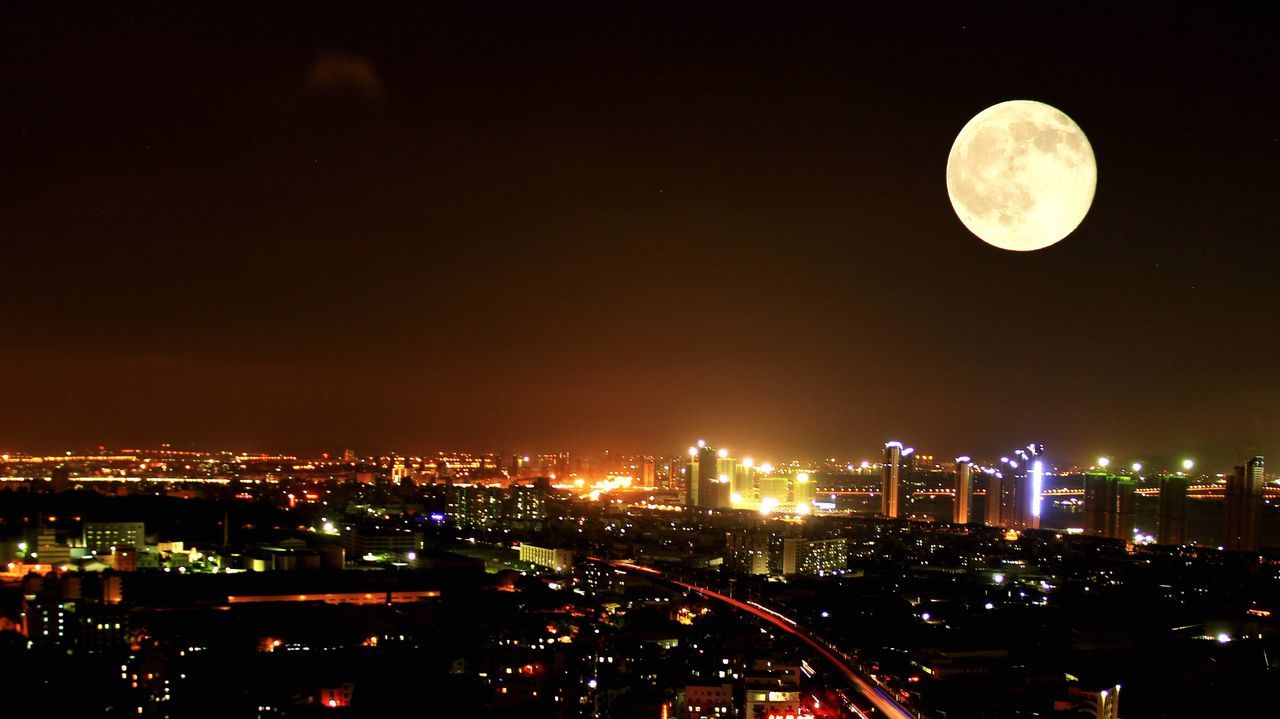Beautiful stock photos of full moon, Aerial View, architecture, astronomy, awe