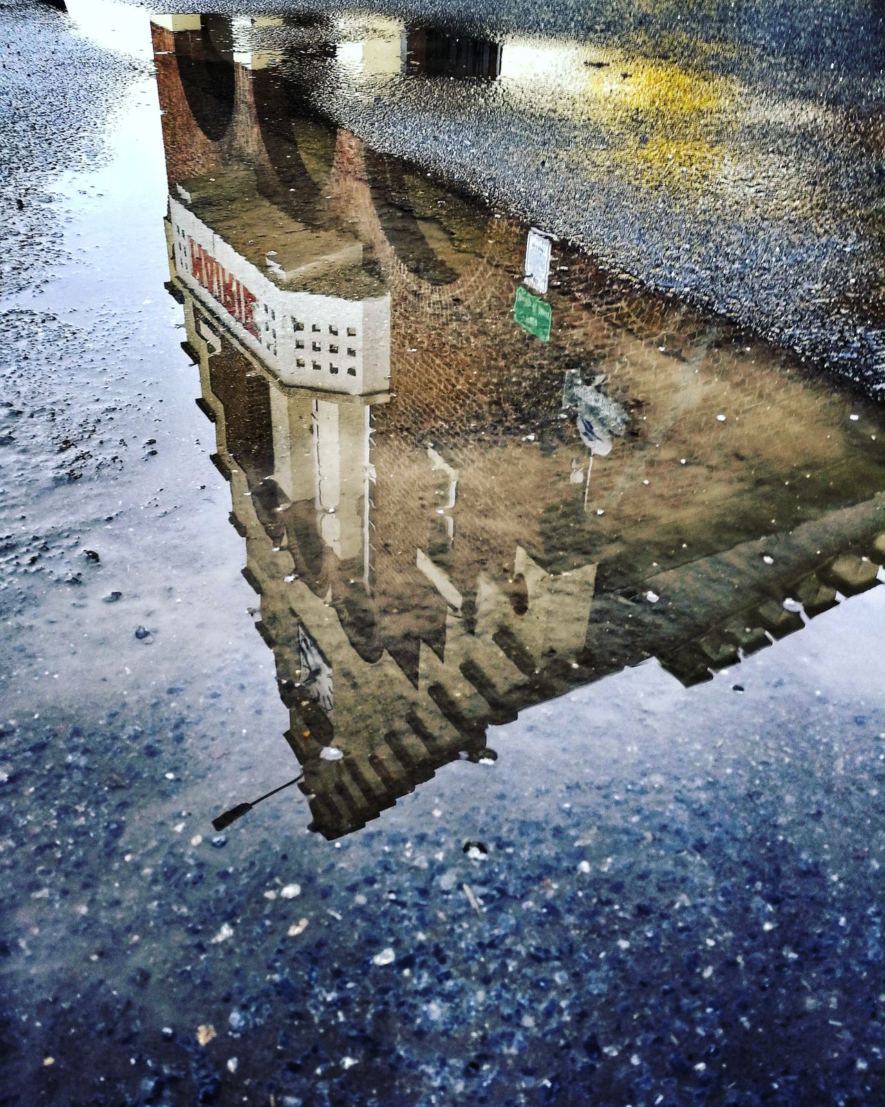 La mairie de Vendhuile. Terre Picarde, du nord. Pays du Vermandois. Rural Scene Street Photography Puddle Puddleography Reflection City Architecture RainyDay Rainy Days Tranquil Scene Outdoors