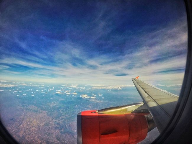 Purple Sky Sky Cloud - Sky Air Vehicle Flying Aerial View Cloudscape Beauty In Nature GoPrography Goprohero4 Wide Angle Dubai❤
