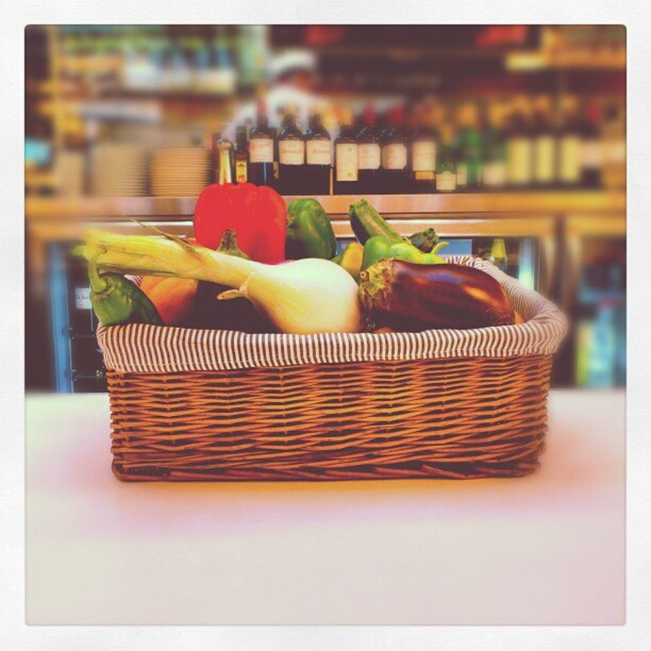 Vegetables on Display at Purto_banus El_Corte_ingles cafeteria marbella spain