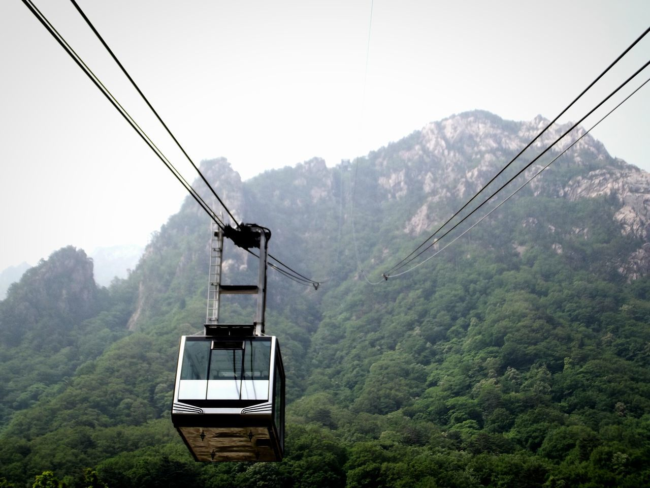 Cable Car Trees Woods Forest Mountain Seorak Mountain Korea South Korea Nature Nature Photography Outdoor Photography Outdoors Green Foggy Landscape Foggy Seoraksannationalpark Mount Sorak, Korea Mount Sorak Seoraksan Clear Sky