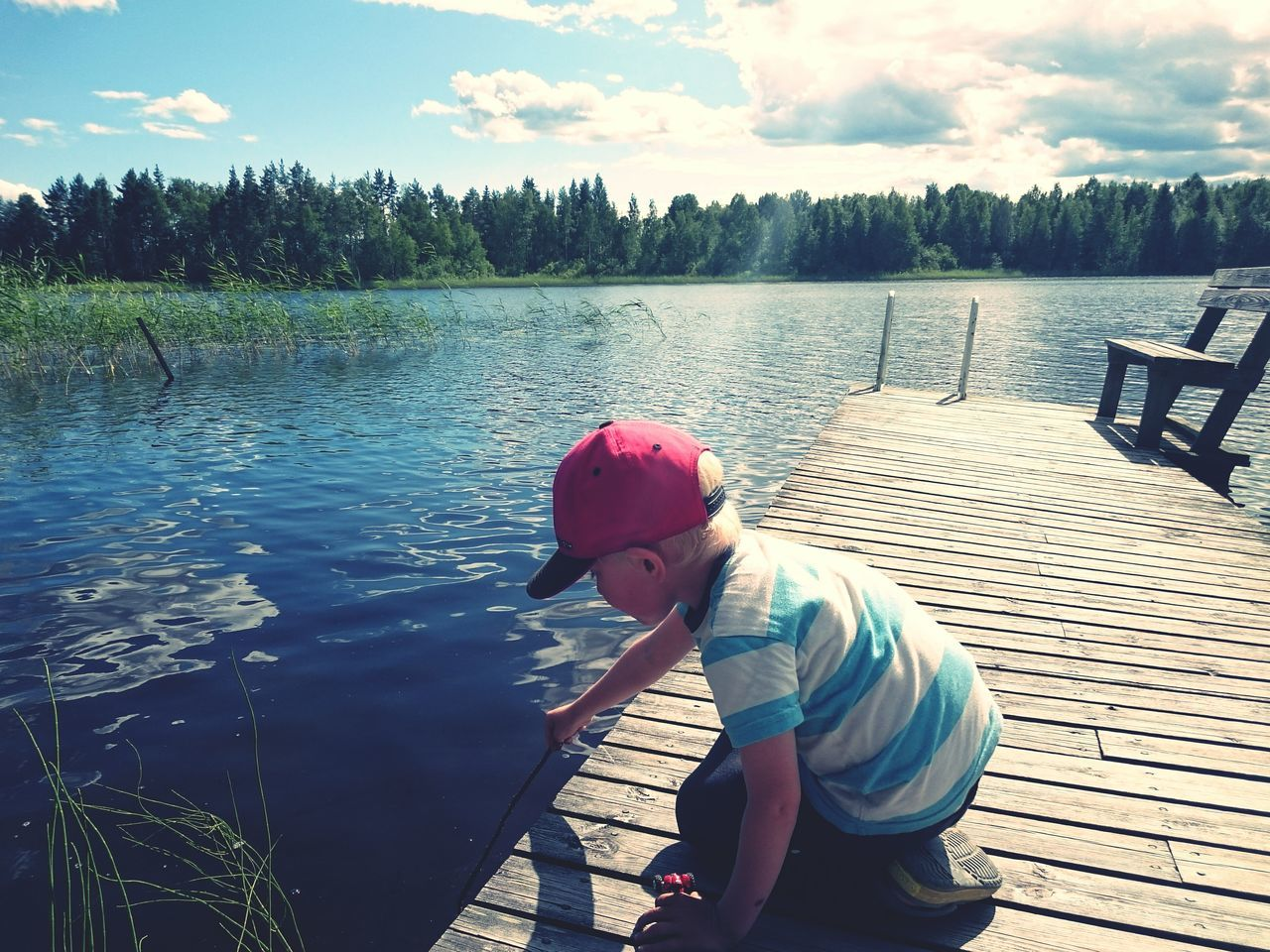 Capturing Freedom Enjoying The Sun Relaxing Nature Beautiful Finland Lake View Kids By The Lake