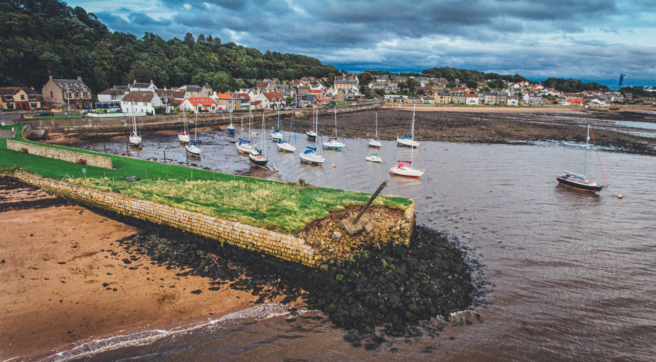 Boat First Eyeem Photo Harbor Limekilns No People Outdoors Scotiand Tranquil Scene Water