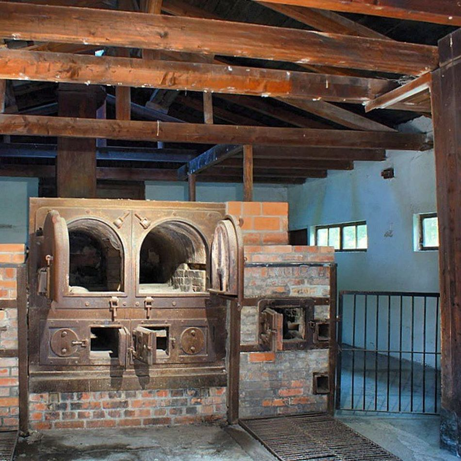 One of the Furnaces at the Crematorium Krematorium . Tour at the Dachau WW2 Concentration camp concentrationCamp. münchen munich, Germany Deutschland. Taken by my SonyAlpha dslr a57. معتقل معسكر محرقة ميونخ المانيا