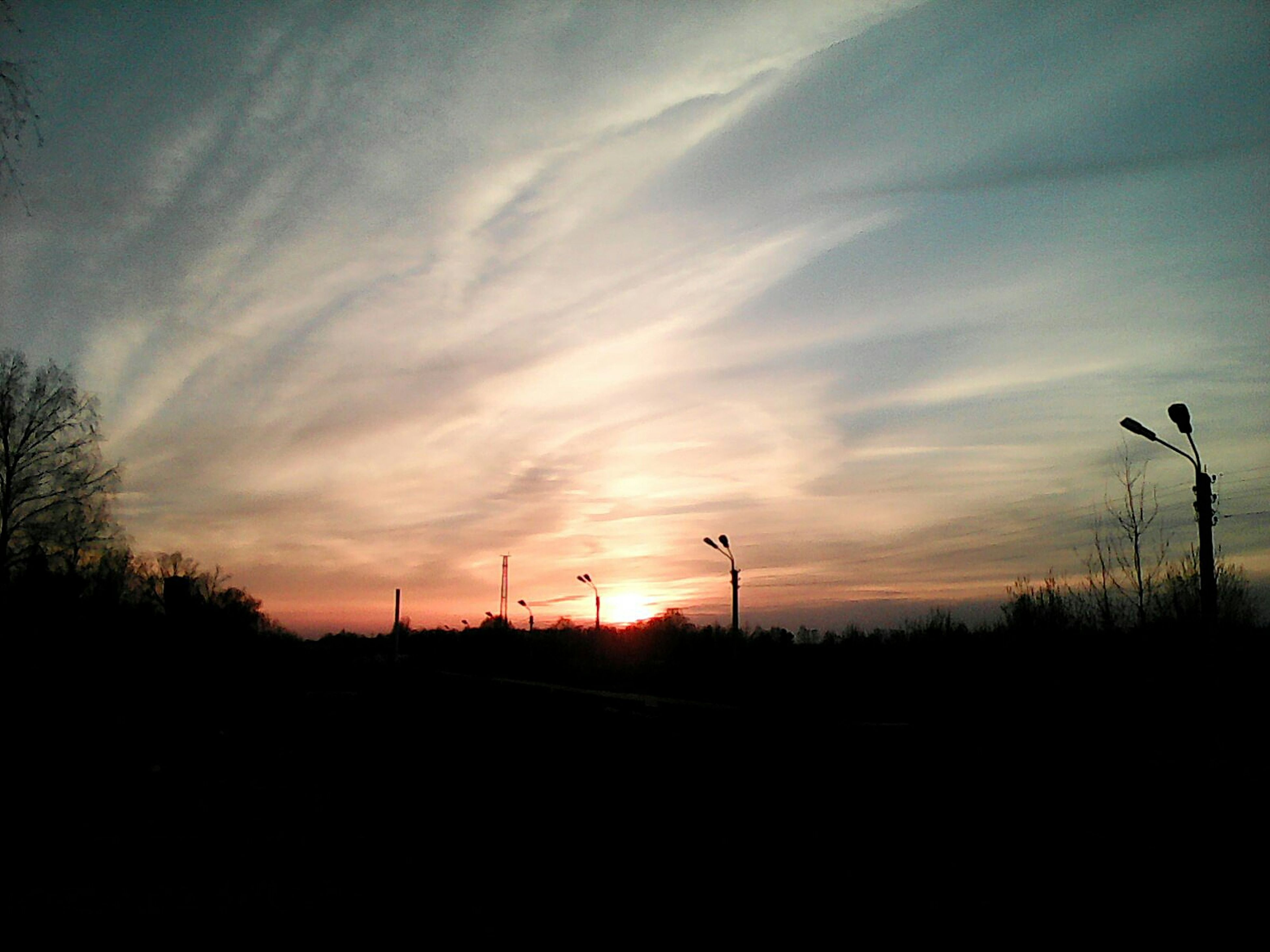 sunset, sky, silhouette, tree, no people, cloud - sky, nature, outdoors, beauty in nature, day