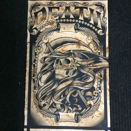 Tattoo Art Death Card Sexy