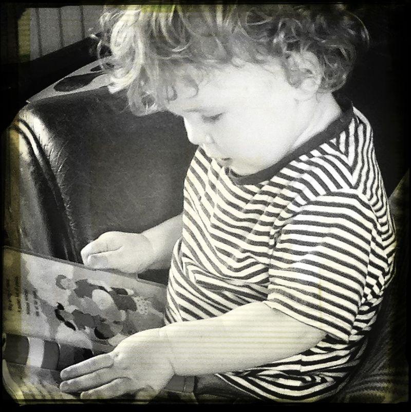 my little book worm!