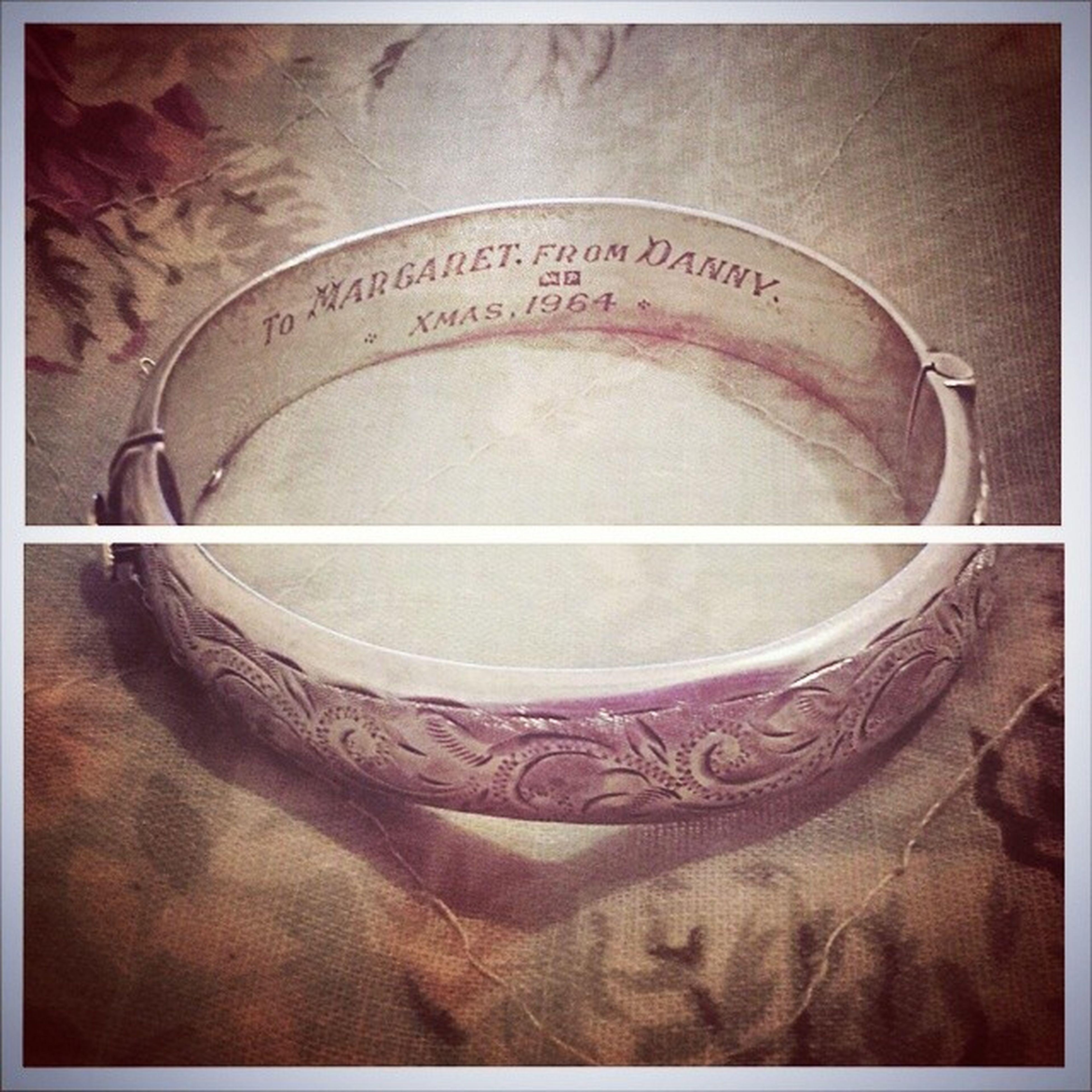My favourite bracelet Vintage 1964 Silver  Romantic Unknownlovers Margaretanddanny Beautiful Vintagejewellery 60s Christmas