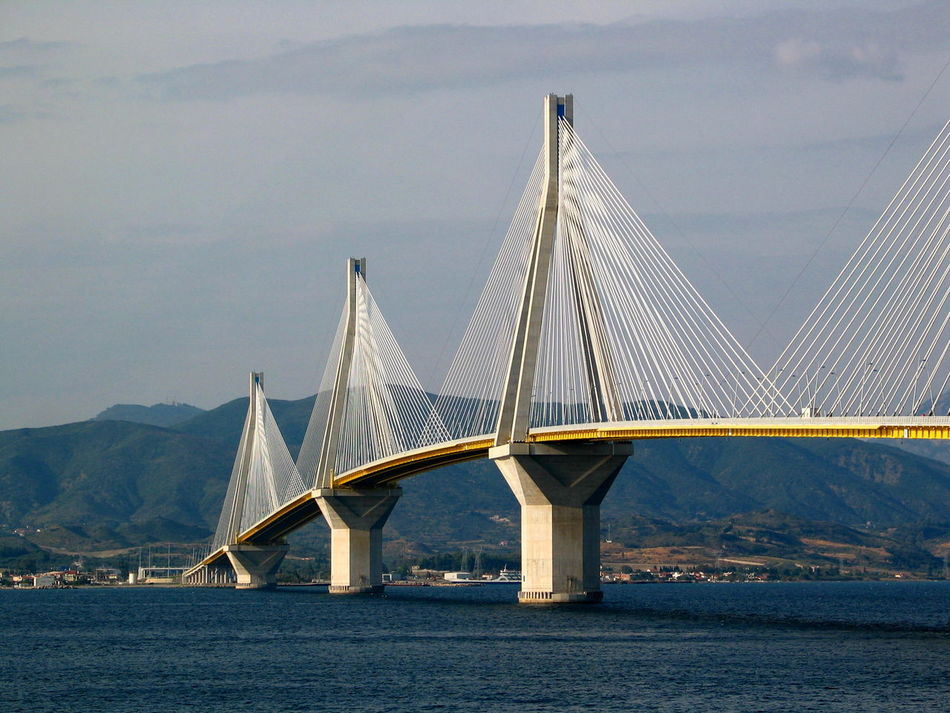 AR6 Andirrio Architecture Bridge - Man Made Structure Built Structure Connection Day Engineering Nature No People Outdoors Rio Antirio Rio Antirio Bridge River Sky Suspension Bridge Transportation Water