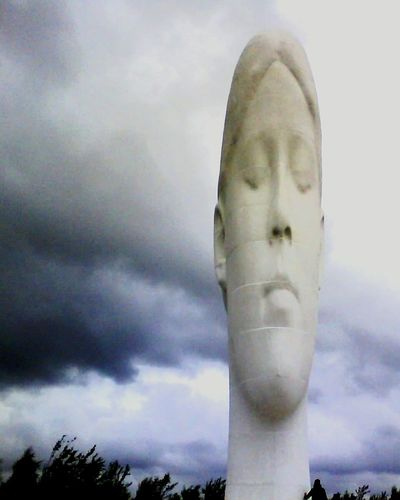 Cloud - Sky Sky Outdoors Low Angle View Storm Cloud No People Statue Day Close-up Dream The Dream Miners Memorial Old Mining Town St Helens Angry Sky Dark Clouds EyeEmNewHere