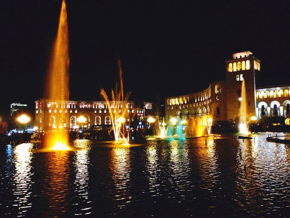 Yerevan Fountains⛲️💦 Night City Life No People First Eyeem Photo