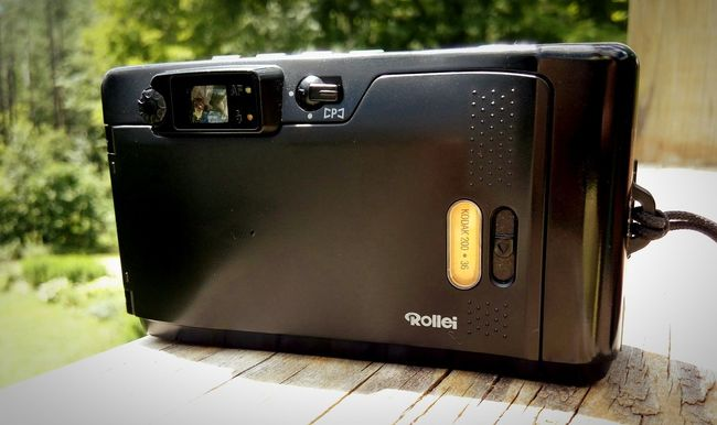 I love standing behind a Rollei Film Photography 35mm Point And Shoot Rollei