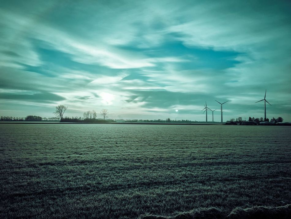 OMW to work 😎 Windmill Nature IPhoneography Day Wind Turbine Wind Power Clear Sky BeCreative Alternative Energy No People Outdoors Industrial Windmill Lovephotoeffect Wintertime Winter Creativity On My Way To Work