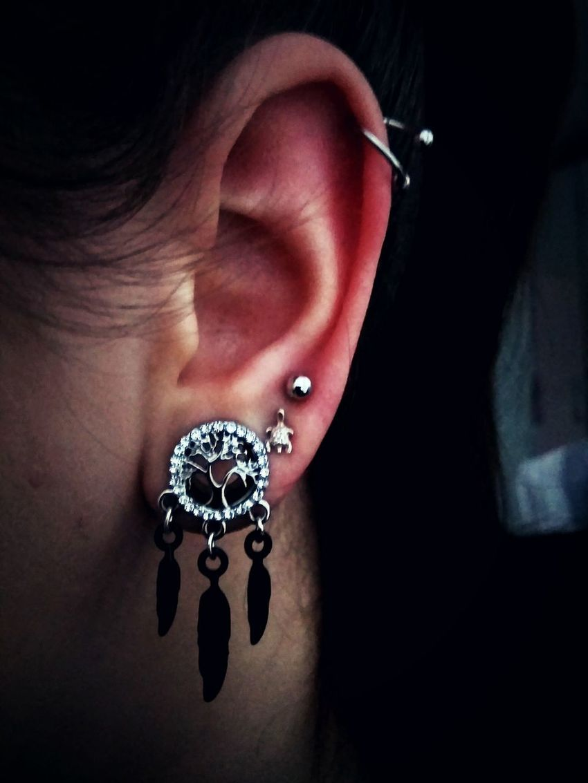 Details. Jewelry Fashion Human Body Part One Person Ring Adult Luxury Earring  Millionnaire Black Background Indoors  People Piercing Piercings Tunnel 10mmtunnel