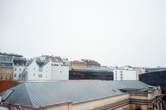 Chilly Roof Top Vienna White Sky Winter In Vienna