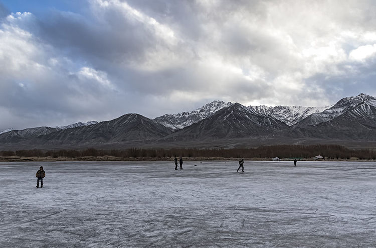 Ice Hockey EyeEm Landscape EyeEm Nature Lover EyeEm Gallery EyeEmBestPics Landscape_Collection Travel Travel Photography Beauty In Nature Cloud - Sky Cold Temperature Day Frozen Lake Landscape Landscape_photography Mountain Nature Outdoors People Scenics Sky Snow Snowcapped Mountain Travel Destinations Winter