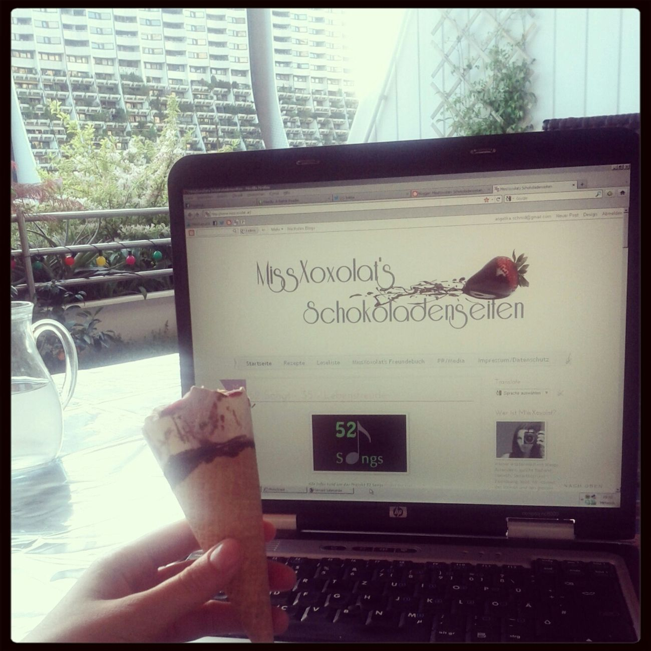 Terrasse | Eis | Bloggen =) Relaxing Blogging Austrian Blogger