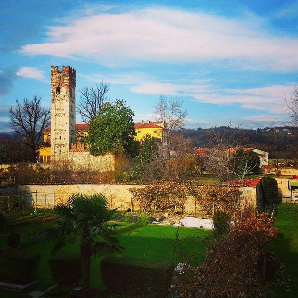 La Torre e il Castello di Sangano in un giorno di sole di qualche mese fa Castle Tower Valsangone Landscape
