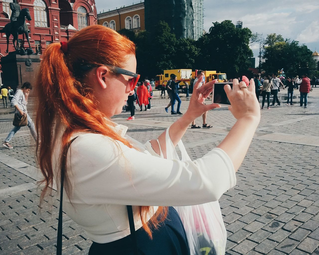 Taking Photos Street Photography Streetphotography People People Photography People Watching Peoplephotography Red Hair в Moscow, Russia
