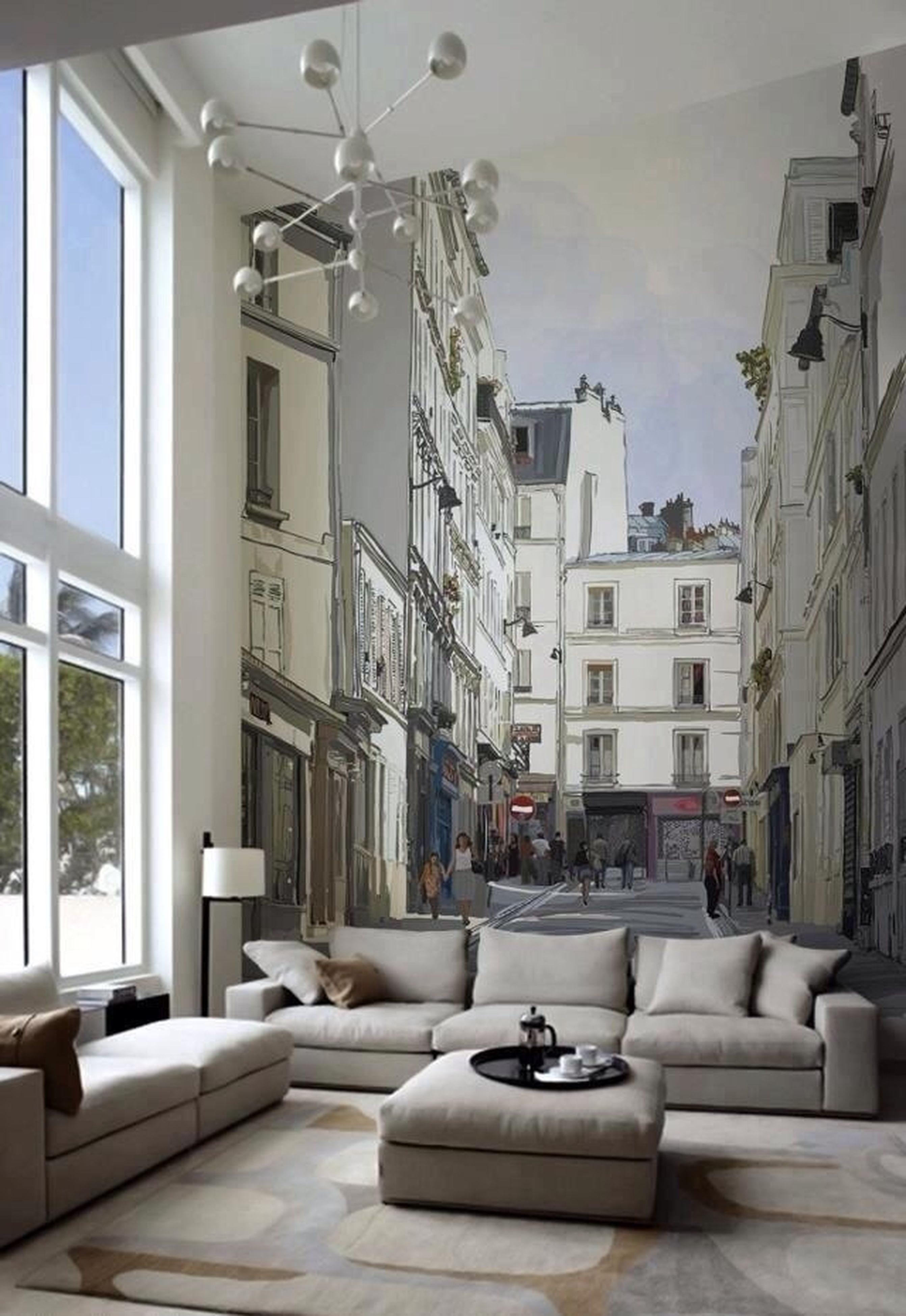 architecture, built structure, building exterior, window, indoors, chair, sunlight, residential structure, table, house, residential building, building, absence, day, empty, no people, lighting equipment, potted plant, city, home interior