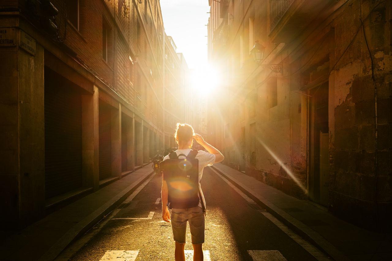 El Dorado. 43 Golden Moments Architecture Casual Clothing City Life Diminishing Perspective Lens Flare Lifestyles Sun Sunbeam Sunlight Sunny Sunset Vanishing Point Fujifilm FUJIFILM X-T1 Color Palette