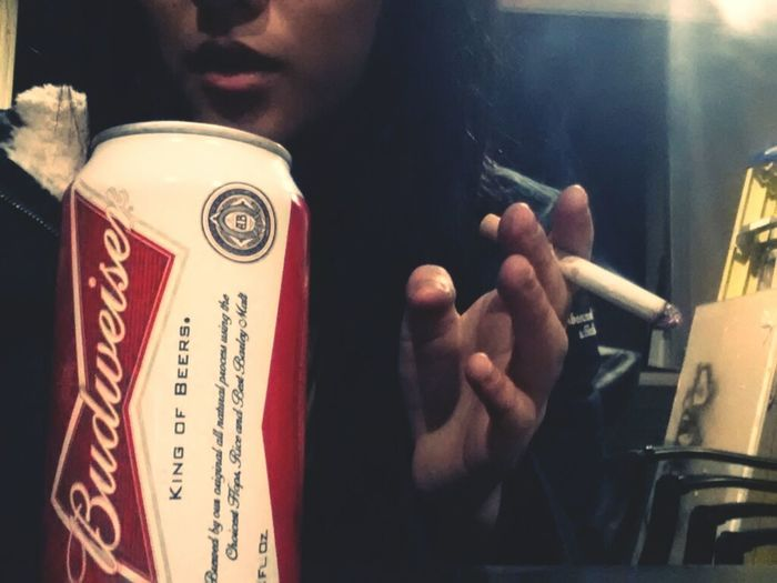 first & last stoggie of the year. (quitting)  Drinking Beer Selfie New Years Cigarettes Asian  Welcome 2013 Beer