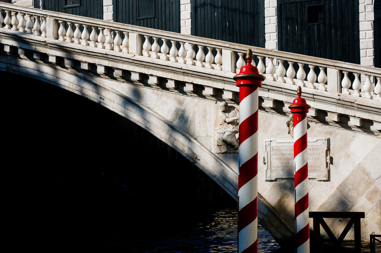 Well, this is what we expected... Architectural Column Architecture Bridge - Man Made Structure Building Exterior Built Structure Connection Day No People Outdoors Railing Red Sunlight Threedaysvenice Transportation Travel Travel Destinations Venice