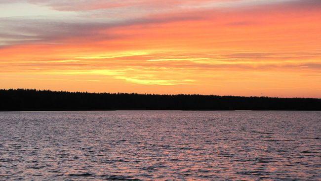 Закат горизонт Ландшафт озеро вечер Ночь пейзаж облака небо небеса
