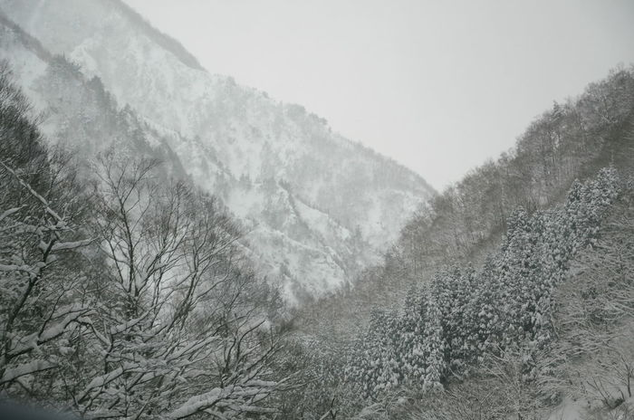 B&w Photography Beauty In Nature Beauty In Nature Black And White Day Fog Japan Photography Landscape Mountain Nature No People Outdoors Scenics Sky Snow Tranquil Scene Tranquility Winter