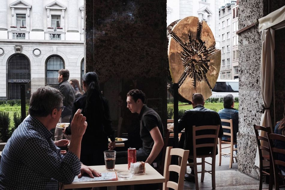 This sun always shines. Table Sitting Cafe Men Sidewalk Cafe Adult Women Chair People Group Of People Adults Only Day Outdoors Building Exterior Young Adult City Architecture Only Men