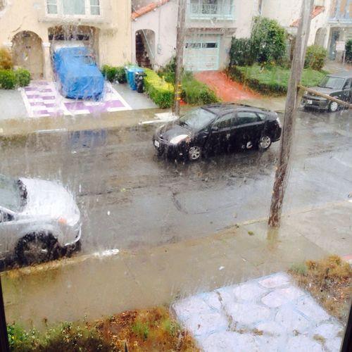 Neighborhood In The Rain Driving By Streetphotography