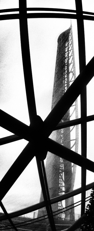 Glasgow Tower Blackandwhite
