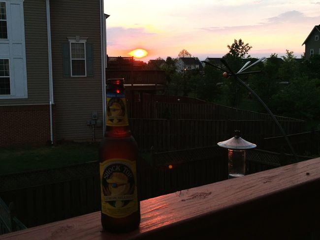 Drinking Beer Shock Top BBQ Ashburn Summer