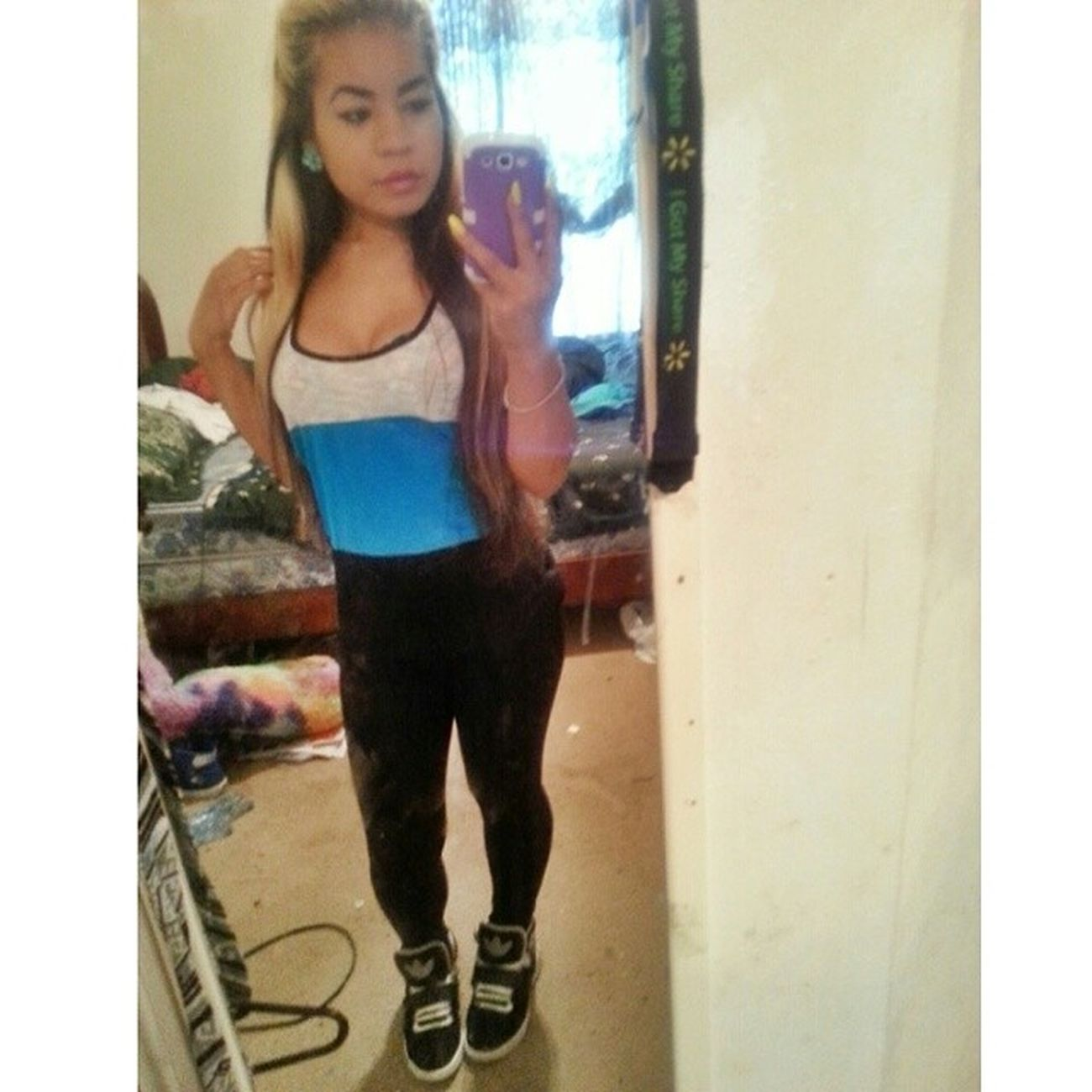 Understand there's nothing I won't do for you. But the longer I wait the faster I'll fade away. Selfie Ootd Khmer Khmerican Cambodian Jacksonville florida chickswithkicks asian adidas tanktop leggings blonde instaselfie instapic