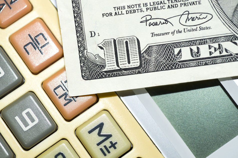 Calculator and ten dollar Bill Business Business Finance And Industry Calculater Calculator Depression Dollar Economy Finance And Economy Future Money Part Of Stock Market Tax Treasure Wealth