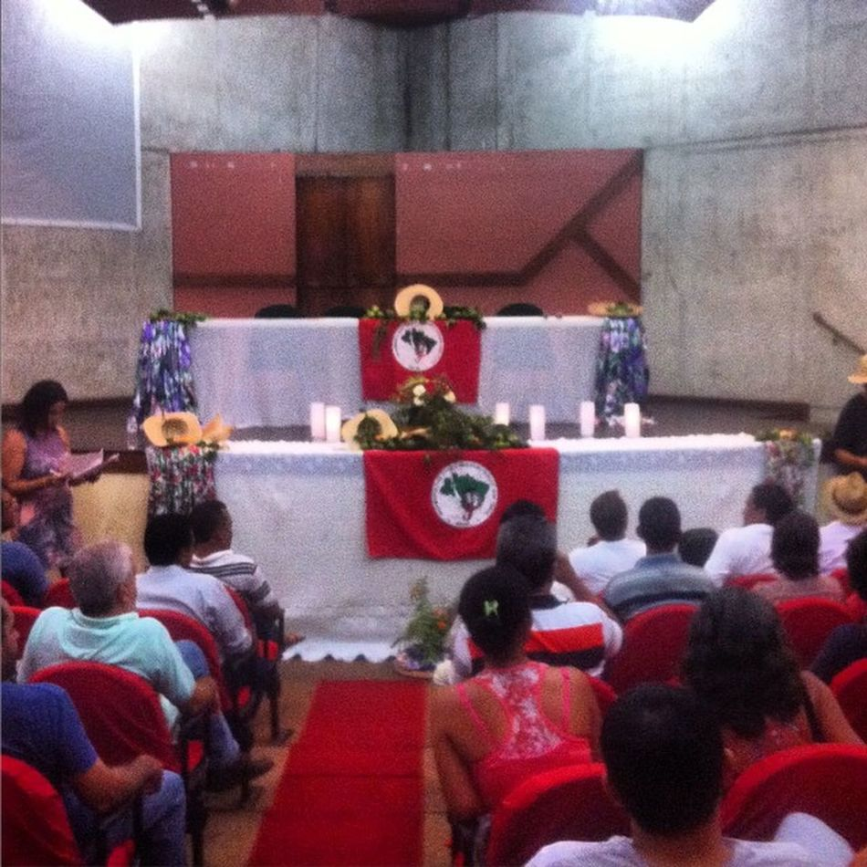 Reunião da coordenação estadual (MG) do Movimento dos Trabalhadores Rurais Sem Terra.