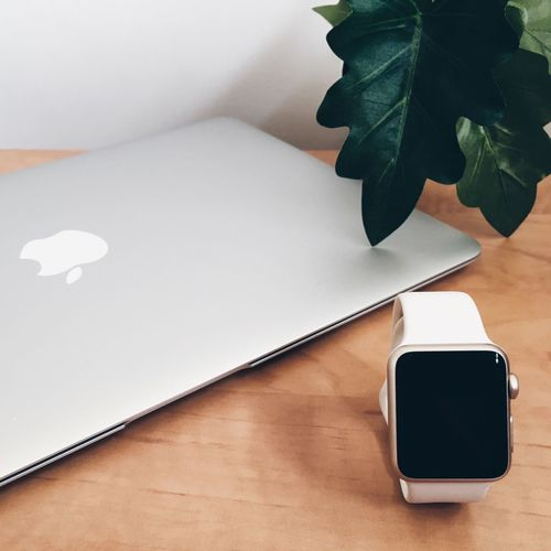 Technology Leaf Indoors  Tech Apple Laptop Computer IWatch Watch Wristwatch Apple Inc. Mac Portatil Design Minimal
