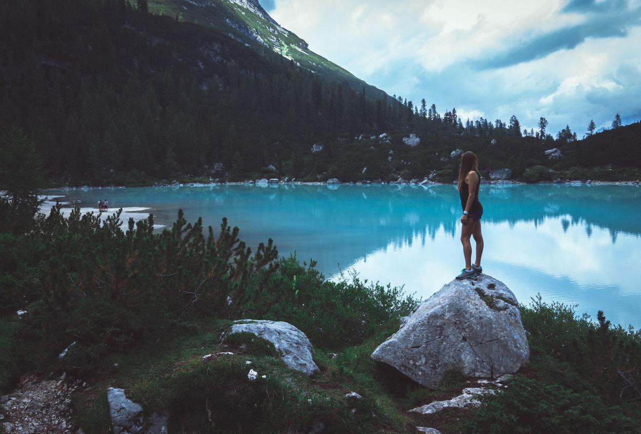 Dolomites Alps Blue Italy Lake Model Mountain Sorapis Lake Water