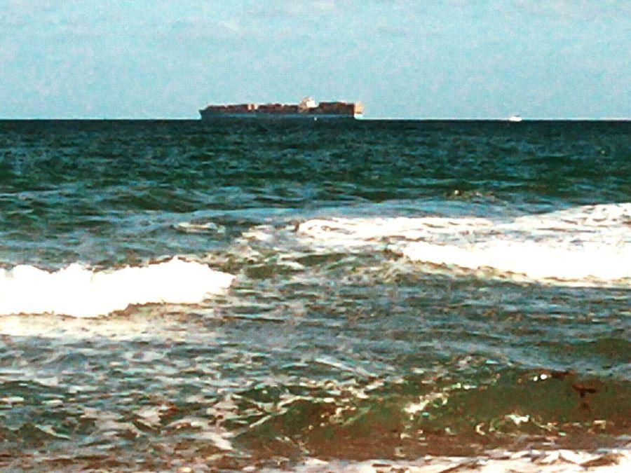 Barge on the Atlantic CBMetro313Pics Ocean View Barge Atlantic Ocean Florida
