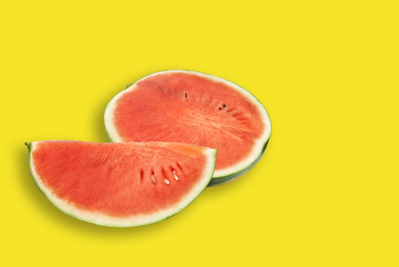 Close-up Colored Background Food Freshness Fruit Healthy Eating No People SLICE Studio Shot Water Melon