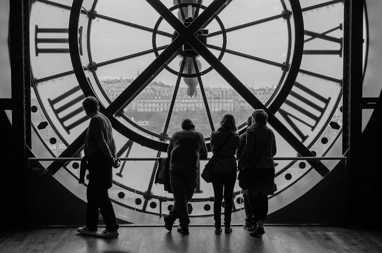 People And Places Orsay Museum Museum Orsay Paris, France  France 🇫🇷 Paris ❤ People Watching People Clock Blak And White